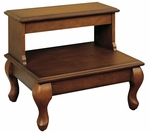 Attic Cherry ''Antique Cherry'' Bed Steps with Drawer [961-535-FS-PO]