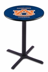 Auburn University 36''H Black Wrinkle Finish Counter Height Pub Table with X-Base [L211B36AUBURN-FS-HOB]