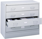 Audio and Video Microform Media Storage Cabinet with Label Holders - Light Gray [4935LG-SAF]