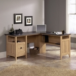 Select Collection 59''W L Shape Desk with Faux Slate Top - Dover Oak [412320-FS-SRTA]