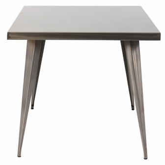 Simple Austin Uuh Square Metal Dining Table Silver Finish With Metal Dining  Table.