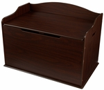 Austin Wooden Spacious Toy Box with Bench Seating Flip-top Lid - Espresso [14956-FS-KK]