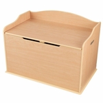 Austin Wooden Spacious Toy Box with Bench Seating Flip-top Lid - Natural [14953-FS-KK]