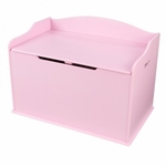 Austin Wooden Spacious Toy Box with Bench Seating Flip-top Lid - Pink [14957-FS-KK]