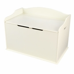 Austin Wooden Spacious Toy Box with Bench Seating Flip-top Lid - Vanilla [14958-FS-KK]