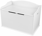 Austin Wooden Spacious Toy Box with Bench Seating Flip-top Lid - White [14951-FS-KK]