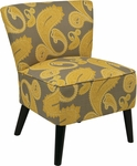 Ave Six Apollo Armless Fabric Chair with Wood Legs - Sweden Dijon [APL-S38-FS-OS]