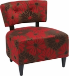 Ave Six Boulevard Armless Lounge Chair with Dark Espresso Finished Legs - Groovy Red [BLV-G14-FS-OS]