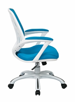 ave six calvin mesh office chair with white frame and fabric