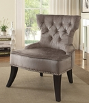 Ave Six Colton Vintage Style Button Tufted Velvet Chair - Brilliance Otter [CLT-B47-FS-OS]