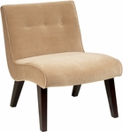 Ave Six Curves Valencia Accent Chair with Espresso Finish Wood - Coffee Velvet [VAL51N-C27-FS-OS]