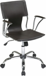 Ave Six Dorado Contour Seat and Back Vinyl Office Chair with Heavy Duty Chrome Base - Espresso [DOR26-ES-FS-OS]