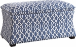 Ave Six Hourglass Fabric Storage Ottoman - Abby Geo Blue [HG3218-G17-FS-OS]