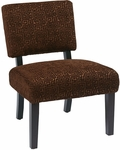 Ave Six Jasmine Armless Accent Chair - Maze Chocolate [JAS-X38-FS-OS]