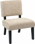 Ave Six Jasmine Armless Accent Chair - Maze Oyster [JAS-X37-FS-OS]