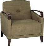 Ave Six Main Street Chair with Espresso Finish Legs and Curved Arms - Seaweed [MST51-S22-FS-OS]
