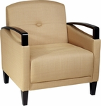 Ave Six Main Street Chair with Espresso Finish Legs and Curved Arms - Wheat [MST51-C28-FS-OS]