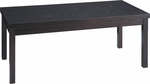 Ave Six Main Street Coffee Table with Solid Wood Legs - Espresso [MST12-FS-OS]