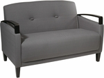 Ave Six Main Street Loveseat with Espresso Finish Legs and Curved Arms - Charcoal [MST52-W12-FS-OS]