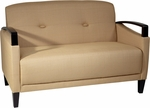Ave Six Main Street Loveseat with Espresso Finish Legs and Curved Arms - Wheat [MST52-C28-FS-OS]