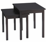 Ave Six Main Street Nesting End Table Set with Solid Wood Legs - Espresso [MST19-FS-OS]