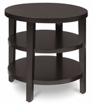Ave Six Merge 20'' Round End Table with Solid Wood Legs - Espresso [MRG09-FS-OS]