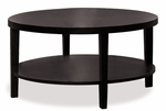 Ave Six Merge 36'' Round Coffee Table with Solid Wood Legs - Espresso [MRG12-FS-OS]