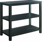 Ave Six Merge Foyer Table with Shelves and Solid Wood Legs - Black [MRG07R1-BK-FS-OS]