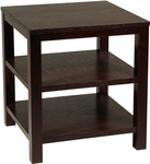 Ave Six Merge 20'' Square End Table with Solid Wood Legs - Espresso [MRG09S-ESP-FS-OS]