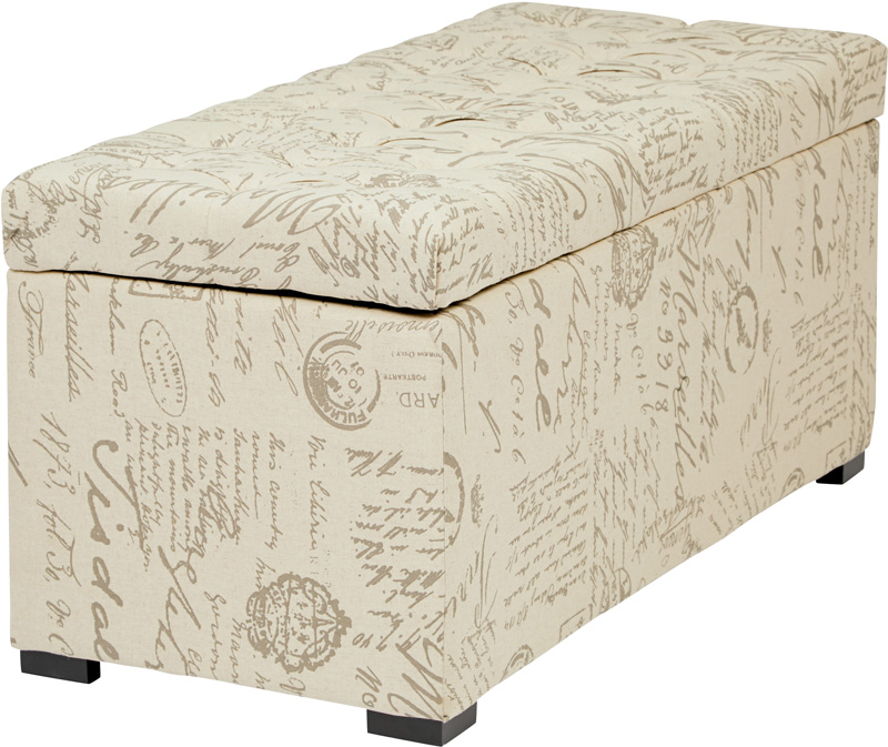 Ave Six Sahara Tufted Fabric Storage Bench with Solid Wood Legs - Script,  SAH3917-S13 by Office Star Products   BizChair.com - Ave Six Sahara Tufted Fabric Storage Bench With Solid Wood Legs