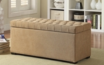 Ave Six Sahara Tufted Fabric Storage Bench with Solid Wood Legs - Shultz Nugget [SAH3917-S34-FS-OS]