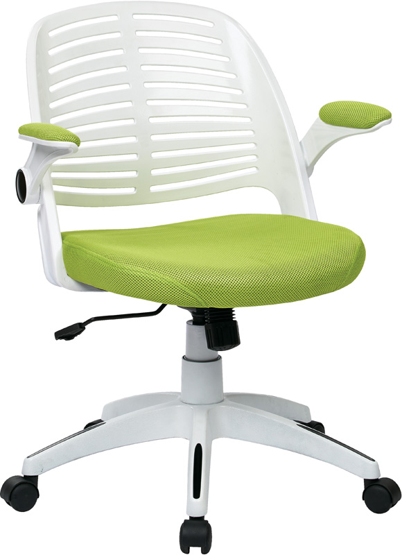 ave six tyler white frame and mesh fabric seat office chair with