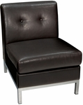 Ave Six Wall Street Faux Leather Armless Lounge Chair - Espresso [WST51N-E34-FS-OS]