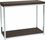 Ave Six Wall Street Wood Veneer Foyer Table with Chrome Finished Steel Base - Espresso [WST07-FS-OS]