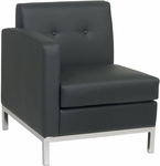 Ave Six Wall Street LAF Faux Leather Single Armed Chair - Black [WST51LF-B18-FS-OS]