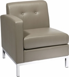 Ave Six Wall Street LAF Faux Leather Single Armed Chair - Smoke [WST51LF-U22-FS-OS]