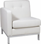 Ave Six Wall Street LAF Faux Leather Single Armed Chair - White [WST51LF-W32-FS-OS]