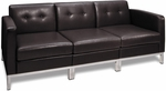 Ave Six Wall Street Faux Leather Modular Sofa with Chrome Finish Base - Espresso [WST51-SET-E34-FS-OS]