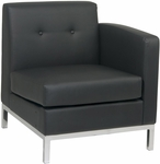 Ave Six Wall Street Faux Leather RAF Single Armed Lounge Chair - Black [WST51RF-B18-FS-OS]
