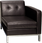 Ave Six Wall Street Faux Leather RAF Single Armed Lounge Chair - Espresso [WST51RF-E34-FS-OS]