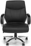 Avenger Series Big & Tall Executive Mid-Back Chair - Black [811-LX-BLK-FS-MFO]