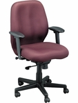 Aviator 27.5'' W x 24'' D x 37'' H Adjustable Height Mid Back Multi Function Fabric Chair - Burgundy [FM5505-AT31-FS-EURO]