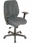 Aviator 27.5'' W x 24'' D x 37'' H Adjustable Height Mid Back Multi Function Fabric Chair - Charcoal [FM5505-H5511-FS-EURO]