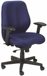Aviator 27.5'' W x 24'' D x 37'' H Adjustable Height Mid Back Multi Function Fabric Chair - Navy Blue [FM5505-AT30-FS-EURO]