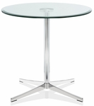 Axium 30'' Round Tempered Glass Table - 26''H [AX30D-LH-GL-FS-DV]