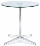 Axium 36'' Round Tempered Glass Table - 29''H [AX36D-DH-GL-FS-DV]