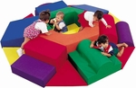 Baby Nuts and Bolts Climbing and Play Center - 87''L x 85''W x 12''H [CF300-015-FS-CHF]