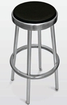 Backless Outdoor Barstool with Black Seat [BAL-609-FLS]
