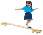 Hard Maple Balance Beam with Sturdy Base [0248JC-JON]