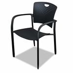 BALT® Oui Stack Chair - Polypropylene Back/seat - 2 Chairs/Carton [BLT34718-FS-NAT]
